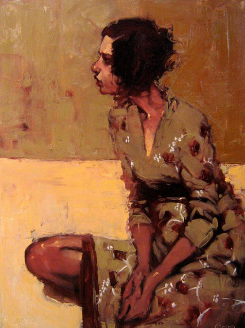 Faraway Look, oil on canvas by Michael Carson