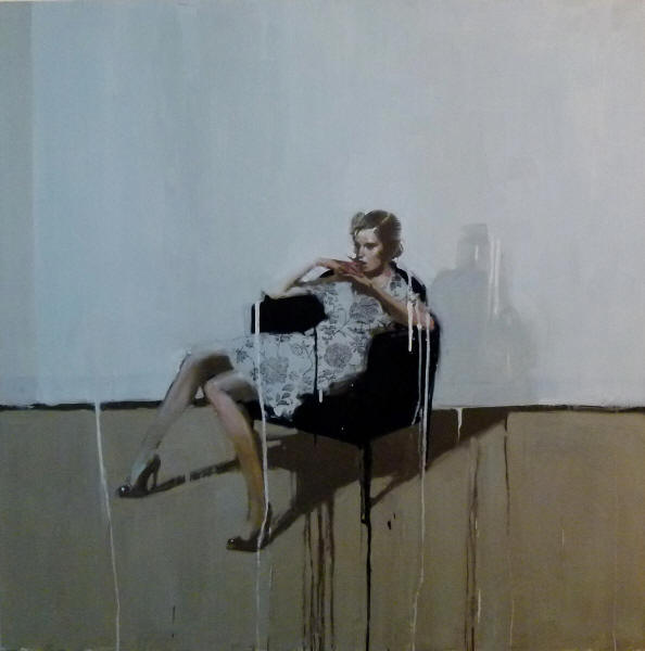 Florals, oil on canvas by Michael Carson