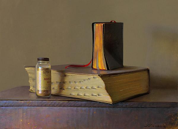 Faith Over Reason, oil on canvas by Jeffrey T. Larson
