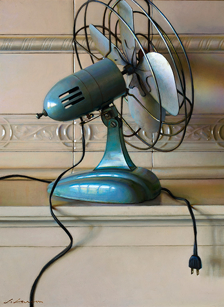 Fan, oil on canvas, by Jeffrey T. Larson