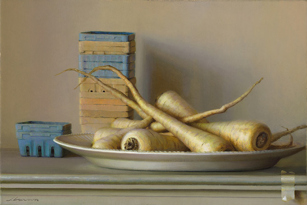Parsnips, oil on canvas, by Jeffrey T. Larson