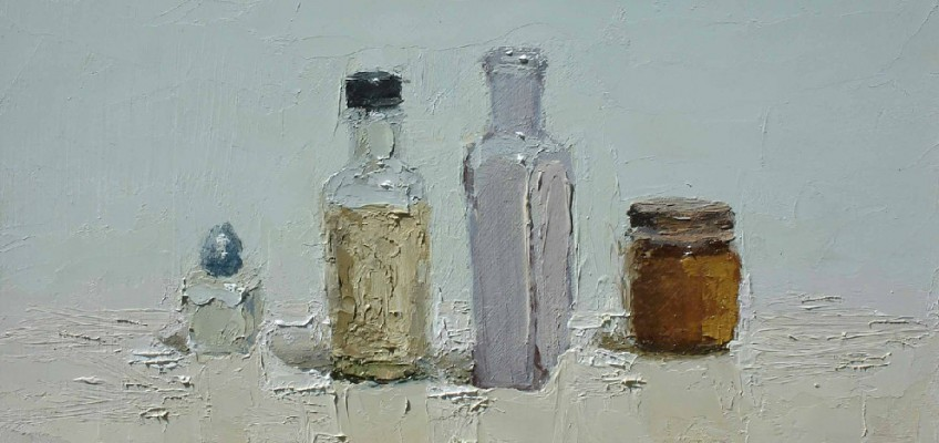 Still Life Shaker, oil on panel by Brian Blackham