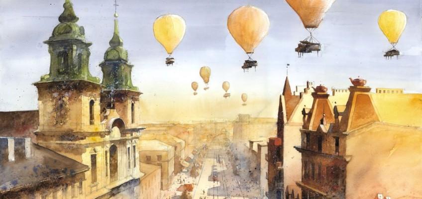 Watercolor by Tytus Brzozowski 14