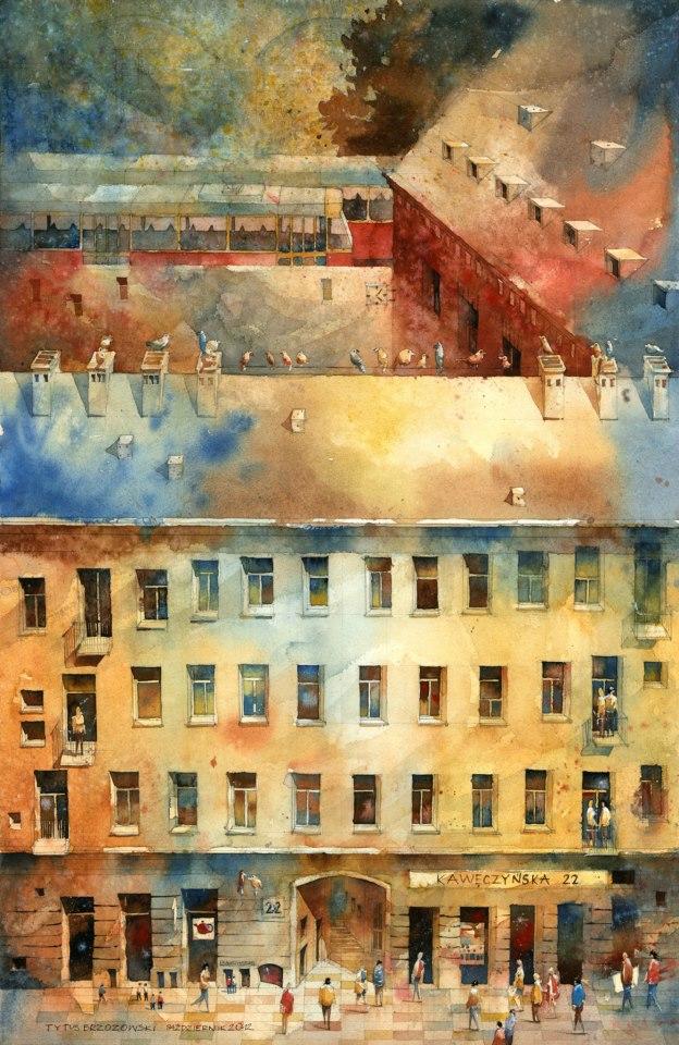 Watercolor by Tytus Brzozowski 2