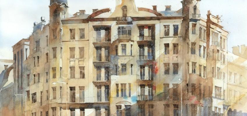 Watercolor by Tytus Brzozowski 6 detail