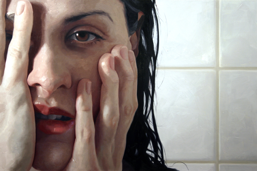 Wake, oil on linen, 2009 by Alyssa Monks